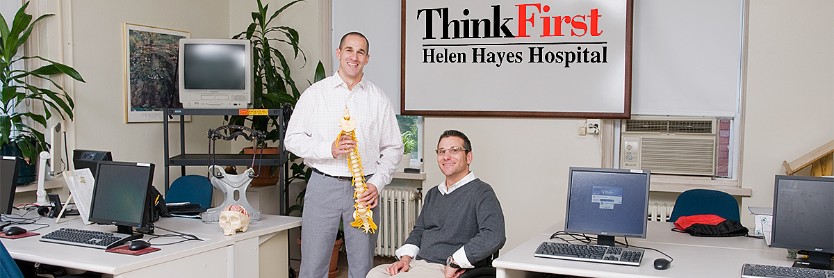 ThinkFirst National Injury Prevention Helen Hayes Hospital Chapter Director John Ficucello and Matthew Castelluccio