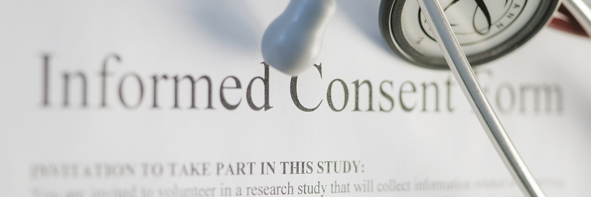 Close-up of Informed Health Consent Form