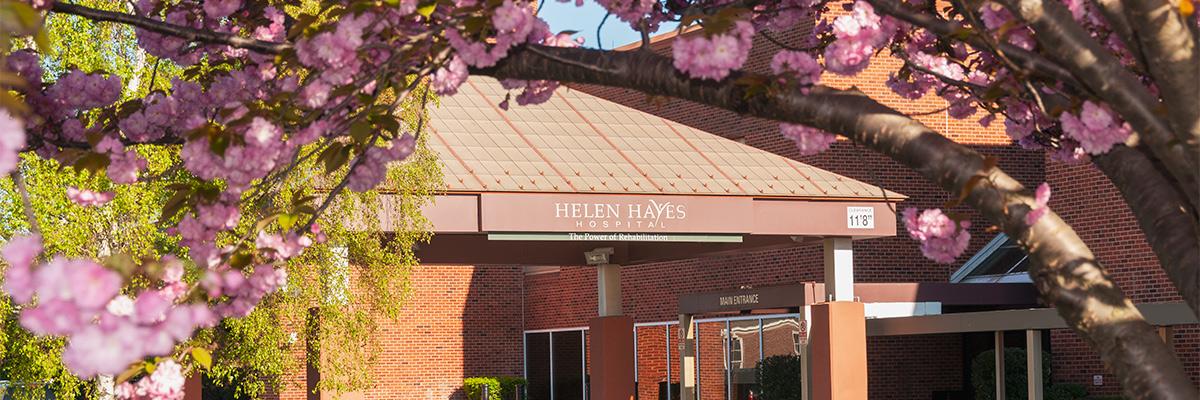 Front entrance of Helen Hayes Hospital