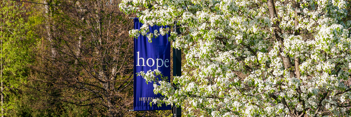 Hope banner on Helen Hayes Hospital Campus