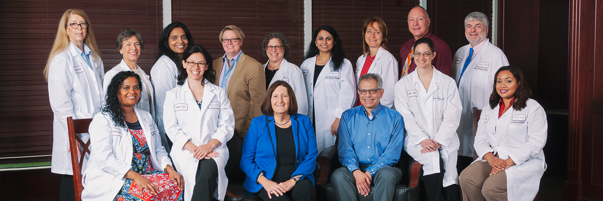 Group photo of doctors, therapists, and nurse practitioners at Helen Hayes Hospital