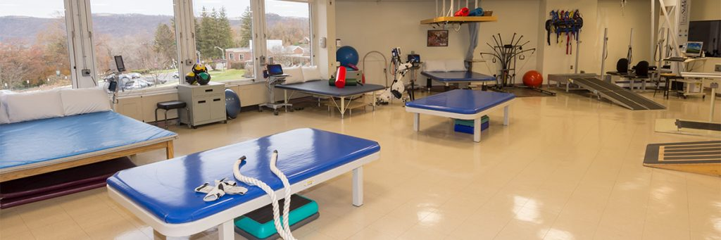 Disability-Specific Rehabilitation Gyms are located on each floor of the hospital.